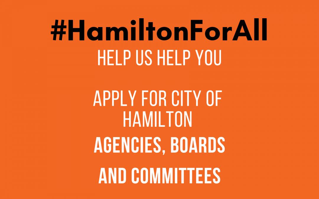 City of Hamilton Agencies, Boards, & Committees Workshop