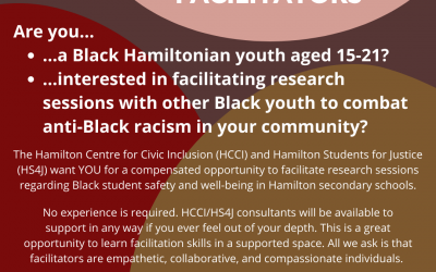 Opportunity to facilitate research consultations with Black youth in Hamilton schools