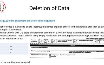 Hamilton Police Use of Force Data & Report is unreliable